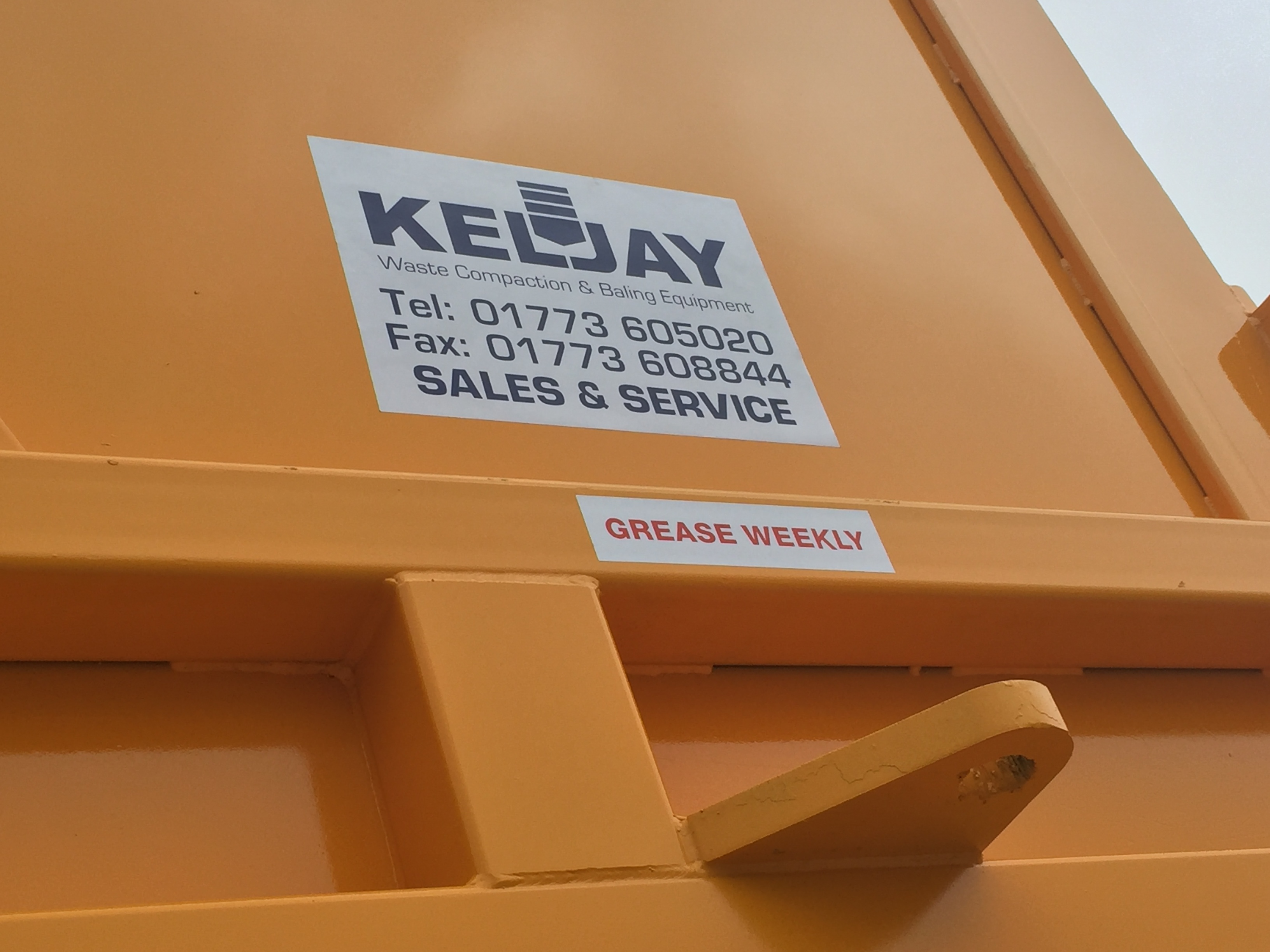 Our latest bespoke waste compactor