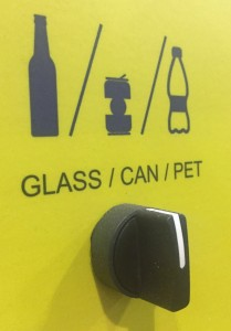 Glass, can and plastic bottle functions